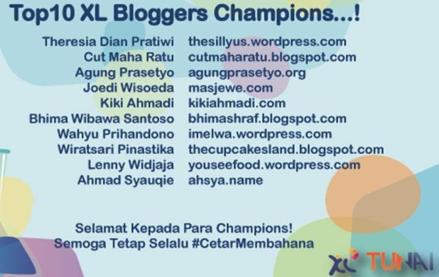 XL Blogger Champ