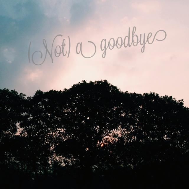 Not a goodbye ya Pa ..